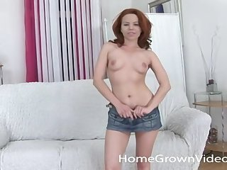 Hairy redhead amateur wants to have her tight hole pounded hard until she cums!
