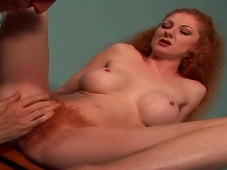Redhead Bitch Gets Her Hairy Ginger Muff - annie body