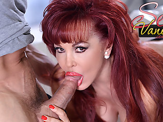 Mommy redhead Saucy Vanessa loves his big dick