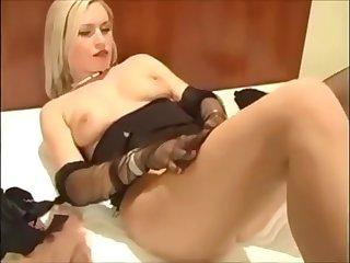 Nylon stockings fun