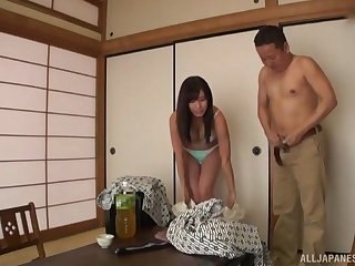 stunning asian adores pussy licking before a missionary on the floor