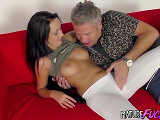Tanned Teen Jessi Poduskova Gives an Old Man the Best Sex of His Life