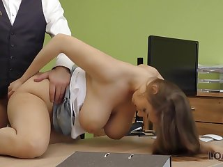 Hot sex in the loan office of Suzie Sun and tricky manager