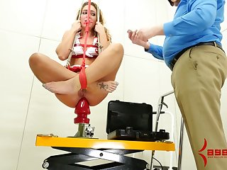Submissive real whore has to give BJ and rimjob to her stud during hardcore sex