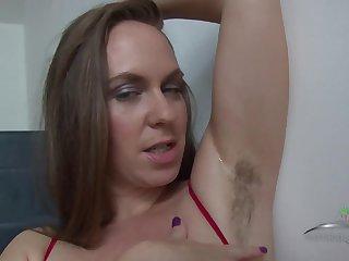 Hairy MILF Eden Shows Her Armpits