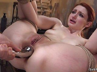Neighbor sodomy fucks tied up redhead