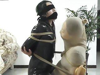 asian gagged