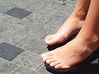 Airing her feet