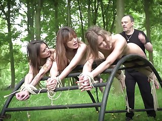 Three teen slaves punished humiliated by bdsm master