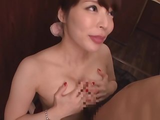 Slim Japanese with big boobs, severe sex