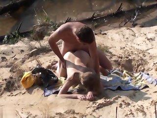Swinger Outdoor Beach Gang Bang Public Sex Part Ii