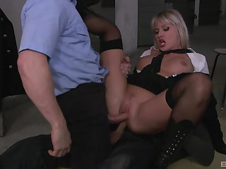 Milf gets laid with two masked men in crazy role play