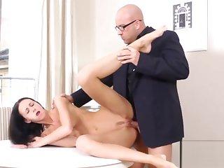 Sweet schoolgirl was tempted and penetrated by her older schoolteacher