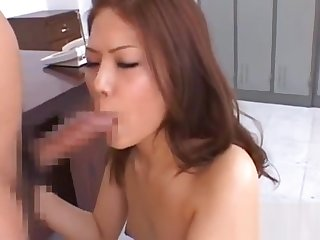 Enchanting oriental hottie needs sperm on her face and tits