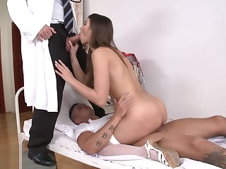 Hot nurse can handle it all