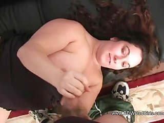 Amateur BBW Handjob and Blowjob Session Of Couple Arousing