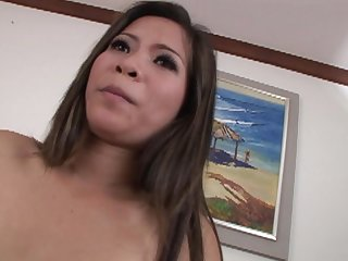 Sexy amateur Asian chick moans while getting fucked balls deep