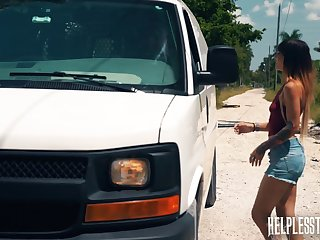 Kitty Carrera gets fucked by a stranger and that guy is an experienced master