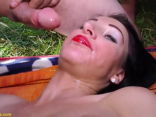 Extreme horny austrian porn babes in their first outdoor lederhosen