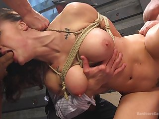 The anal feels better when she's tied up and obedient