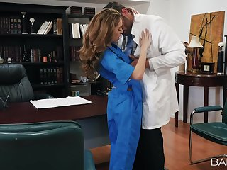 Muscular man shows this premium woman proper hard sex