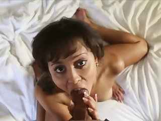 She smiles while milking and riding a big dick