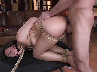 Adorable Whitney Wright drops on her knees during BDSM torture