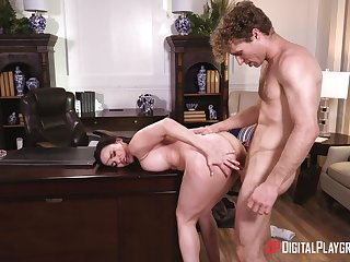 Mouthwatering office fucking for hot filly Dana DeArmond
