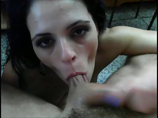 This lewd slut can work some balls and she's got a well trained tongue