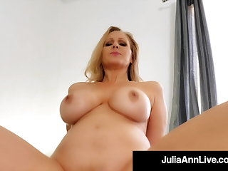 Step Sex With Mommy Julia Ann Riding Her Step Sons Hard Cock