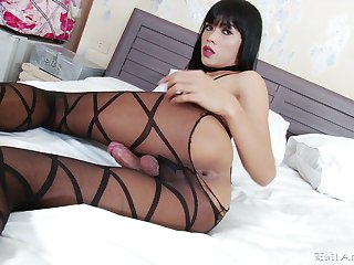 Full solo with a tranny just waiting to fuck