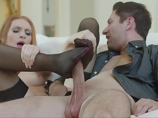 Sweet foot fetish leads to intense fucking and huge orgasms