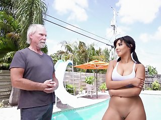 Quite remarkable for this old man to fuck such a hot beauty