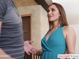 Amazing hottie with big bubble ass is happy to ride fat cock on top