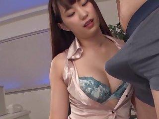 Quickie fucking in the office with foxy secretary Mitani Akari